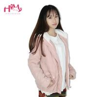 Wholesale Japanese Fashion Winter Coat - Wholesale- Japanese Winter Coat Mori Girl Short Student Cotton Basic Pink Coats Women Clothing Warm Outwear Women Jackets Female Overcoats