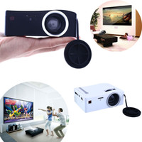 Wholesale Tv Hdmi Sale - Wholesale-2016 Hot Sale Mini Projector TV Led Video LED Beamer Home Theater HDMI Android Projeksiyon