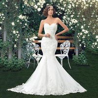 Wholesale Tailoring China - NE022 Mermaid Wedding Dress fish style White Lace with Belt 2017 China Wedding Factory Sell Tailored Made Bride Gown