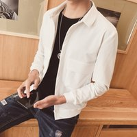 Wholesale Korean Boy S - Men's spring jacket 2017 new Korean version of the trend of handsome pure color jacket young boy boy clothes
