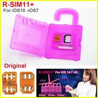 Wholesale Unlocking X Sim - Rsim 11+ r sim 11+ RSIM11+ r sim11+ plus unlock card for iPhone 7 plug iphone 6 unlocked iOS 10.x-7.x 4G CDMA GSM WCDMA SB AU SPRINT