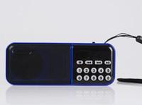 mini metal dijital mp3 toptan satış-Taşınabilir Hifi mini dijital FM radyo Hoparlör ile Yaşlı erkekler Radyo 18650 pil taşınabilir MP3 Çalar amplifikatör U disk TF kart SC-862