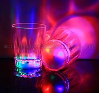 Wholesale Wholesale Acrylic Mugs - Brand new Colorful LED Flashing Rocks Barware Acrylic Beer Mug Cola Drink Cup for Party Bar Decoration Supplies MYY