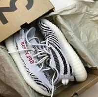 Wholesale New Running - New 350 Boost V2 Zebra Cp9654 Beluga 2.0 Orange Grey Cp9652 Black Red Bred Cp9366 Cream White Sply-350 Kanye West Running Shoes