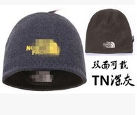 Wholesale Wool Set Hat - 2017 autumn and winter hat men's fashion version of the tide double-sided thickening warm sets of knitting hood ear piercing embroidery