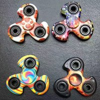 Wholesale Mini Windmill Toys - Windmill Tri Fidget Spinner Gyro Style Camouflage Fidget Spinners For decompression anxiety EDC Finger Toy Football Leopard Rainbow