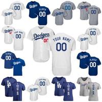 Wholesale Grey Shirt Cool - 17 Men's Women's Kids' Los Angeles Dodgers Star Custom Grey Blue White Home Road Alternate Cool Flex Baseball Jerseys T-shirt Backer T-shirt