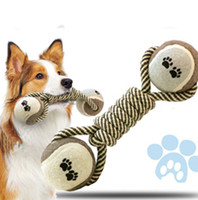 Wholesale Dog Cotton Rope Tennis Toy Interactive Toy Molar Toy Durable Knot CM