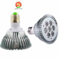 CE ROhs LED PAR 30 21W 7x3W Spotlight E27 lampadine dimmmable o non dimmable freddo / caldo bianco PAR30 CE USA CREE chip