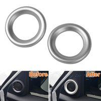 Para Honda Civic 2016 2017 Chrome Car Door Upper Audio Speaker Ring Cover Trim 2pcs