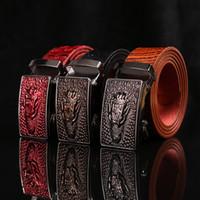 Wholesale Leather Beaded Belt 38 - New men's belts, automatic buckle pants belt, business leather belt manufacturers wholesale