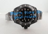 Wholesale Watch Pvd Movement - Brand New Mens Automatic Movement 2813 No Date Watch Men Ceramic Bezel Full Black Pvd Crystal Watches Men's Dive Sport Wristwatches