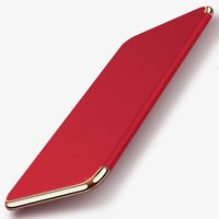 Wholesale Ground Covering - Hot Red Case High Quality PC Hard Cases Grind Arenaceous Electroplating Protective Back Cover Full Protective Shell