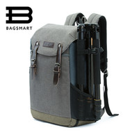 Wholesale Backpack Camera Bags For Men - Wholesale- BAGSMART Men Multifunctional Camera Backpack DSLR Bag for 15.6 Laptops Waterproof Rain Cover for Canon Nikon Camera Accessories