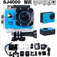 Wholesale Mini Wireless Waterproof Cams - New WiFi Extreme Sports Cameras Action Camera Full HD 1080P Wireless Diving Waterproof Underwater 30m Cam MINI Sport HD DV video cameras