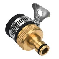 Wholesale Wholesale Garden Hose Fittings - Wholesale- 2016 HOT SALE New Universal Garden Lawn Washing Machine Water Tap Hose Pipe Connector Fitting Quick Adapter Nozzle car styling