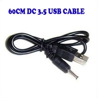 Wholesale Dc Power Mm - 60CM 2FT USB Charger Cable to DC 3.5 mm Plug Jack Dc3.5 Power Cable 500ps lot