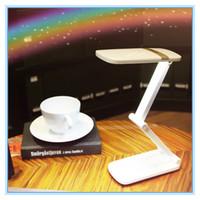 Wholesale modern reading glasses - LED Desk Lamp Touch Table Lamp Light Led Non-limit Dimming Reading Book Light USB Foldable 24 Pcs SMD night light