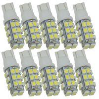 Wholesale White 194 Led - 10pcs T10 LED Wedge Bulb 12V T10 28 SMD 3528 168 194 led W5W Auto Led Light Bulb for Car Signal Bulbs Dome Lights