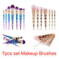 Wholesale Hair Color Brushes - Best quality color optional Professional 7pc lot brush kit makeup Multipurpose brush with lots of cosmetics and makeup brushes