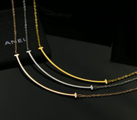 Wholesale Stainless Steel Necklace String - Sale On Now Top Quality 316L Titanium steel OL Style Fashion Simple Pendant Necklaces Free Shipping PS4023