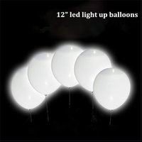 led up lighting para la venta al por mayor-Venta caliente Luminoso Led Globos de 12 Pulgadas Burbuja de Aire Inflable Latex Light Up Balloon Boda Fiesta de Cumpleaños Decoraciones Led Ballon Al Por Mayor