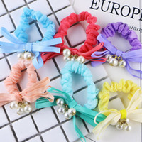 Wholesale Bands For Head - 2017 New Fashion Girl Floral Headband Bow Headwear Scrunchie Bandage Head Knot Gum Rope Accessories For Women Elastic Hair Band
