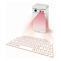 Wholesale Laser Virtual Keyboard Android - Mini Wireless Laser Projection Keyboard Portable Virtual Bluetooth Laser Keyboard with Mouse Function for Android iPhone Tablet Laptop K01