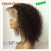 Wholesale Virgin Kinky Lace Wigs - 130 Density Mongolian Virgin Hair Afro Kinky Lace Front Wigs Glueless Human Hair Front Lace Afro Kinky Curly Wig For Black Women
