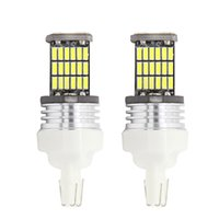 Wholesale Car Led 7443 - T20 W21 5W 7443 9W 450LM White Light 2017 High Quality 45 LED 4014 SMD Car Brake Light Rear Driving Lamp Bulb Free Shipping