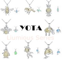 owl vision - YOTA Luminous Series Animal Pendant Elephant Dolphin Owl Bird Penguin Gold Fish Night Vision cm Length Link Chain Necklace Mixed