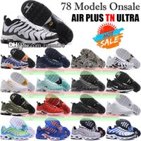 Wholesale Original TN Air Shoes Mens And Womens Running Shoes Air Plus TN Ultra Shoes Sports TN Requin Sneakers