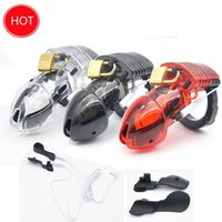 Wholesale Cuff Chastity Device - Prison Bird New Electro Shock Male Chastity Device Cock Cages Men Lock With adjustableRing Cock Chastity Belt Cuff Ring A175