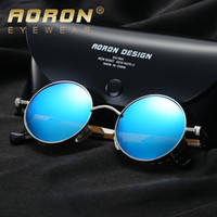 Wholesale Sun Protection Film - New Brand Designer Sunglasses for Men and Women Polarized Lens Pilot Fashion UV400 Protection Vintage Sun Glasses Color film HD Sunglass