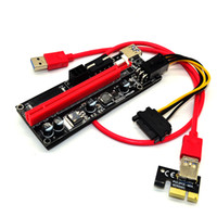 Para BTC Ver 009S 60cm USB 3.0 PCIe Riser Card PCI-E Express 1x a 16x Extender Riser Card Adaptador USB SATA 15Pin-6Pin Power Red black Cable
