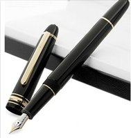 Wholesale Elegant Fountain Pen - Classique M Legend black resin145 fountain pen Elegant Unique writing ink pen 4810 14K M nib