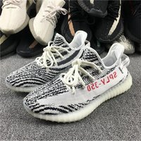 Wholesale High Boots For Womens - 2017 New Zebra Bred 350 V2 Boost with Box High Quality Running Shoes for Men West Kanye Multicolor Sneakers Womens Fashion Sports Shoes