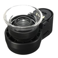 Wholesale Focus Magnifier - Wholesale- Easy for Focus Adjustment Mini 45X Monocular Magnifying Glass Lens Jeweler Loupe LED Light Eye Magnifier Watch Repair Tool