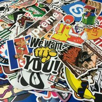Wholesale Home Fridge - AUTOPS 50pcs lot Mixed Funny Hit Stickers For Kids Home Decor Jdm On Laptop Sticker Decal Fridge Skateboard Doodle Stickers Toy