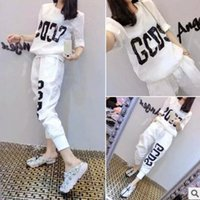 Wholesale Student Swimming - 2017 summer new fashion sports suit female student temperament casual clothes loose pants sets.