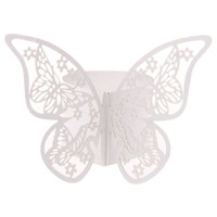 Vente en gros 50pcs Serviette Butterfly Ring Paper Holder Table Fête Mariage Favors Mariage