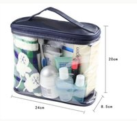 Wholesale Male Cosmetic Bags - Travel Transparent Waterproof Women Toiletry Kit Men PVC Zipper cosmetic Bag Large Capacity makeup Storage Pouch for Lady Male
