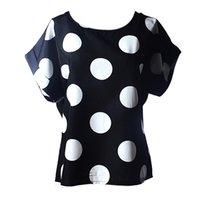 Wholesale Wholesale Unique T Shirt - Wholesale- 19 Style Women Casual T Shirt 2016 Summer Unique Print Chiffon Tops Short Sleeve Fashion T-shirts Plus Size XXL Tee Shirt Female
