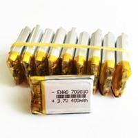 batterie lithium ion polymère 3.7v achat en gros de-3.7V 400mAh 702030 Lithium Polymère LiPo li ion Rechargeable batterie cellules puissance Pour Mp3 MP4 casque DVD téléphone mobile Caméra appareil photo psp