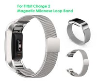 Wholesale Replacement Meter - Magnetic Milanese Loop Metal Band For Fitbit Charge 2 Charge2 Wristband Stainless Steel Watch Band Bracelet Mesh Strap Replacement