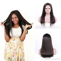 Wholesale Handtied Brazilian Hair - Factory Price Lace Frontal Closure 8A Grade Straight Lace Frontal With Natural Hairline Pre Plucked Brazilian Virgin Human Hair HandTied