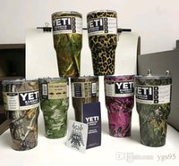 Wholesale Newest Color YETI Cups oz oz oz oz oz oz oz Stainless Steel Rambler Tumbler Travel Mugs Car Beer Vacuum Insulation Cups