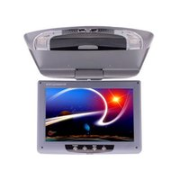 Wholesale Car Roof Dvd Mounts - 9 Inch Car Monitor Roof Mount Car LCD Color Monitor Flip Down DVD Screen Overhead Multimedia Video Ceiling Roof mount Display car moni