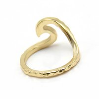 Wholesale silver wedding ring waves - Hammered rings Single metal trendy Wave for women Ring fashion jewelry luxury wedding phalanges SPL for Derek