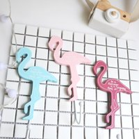 Flamingo Wooden Hook Fashion Eco Friendly Crochets de suspension pratique pour chambre pour enfant Creative Wall Home Decor Trois couleurs Optionnel 4 99mx F R